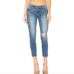 Paige Mid-Rise Skinny Jeans, Size 25